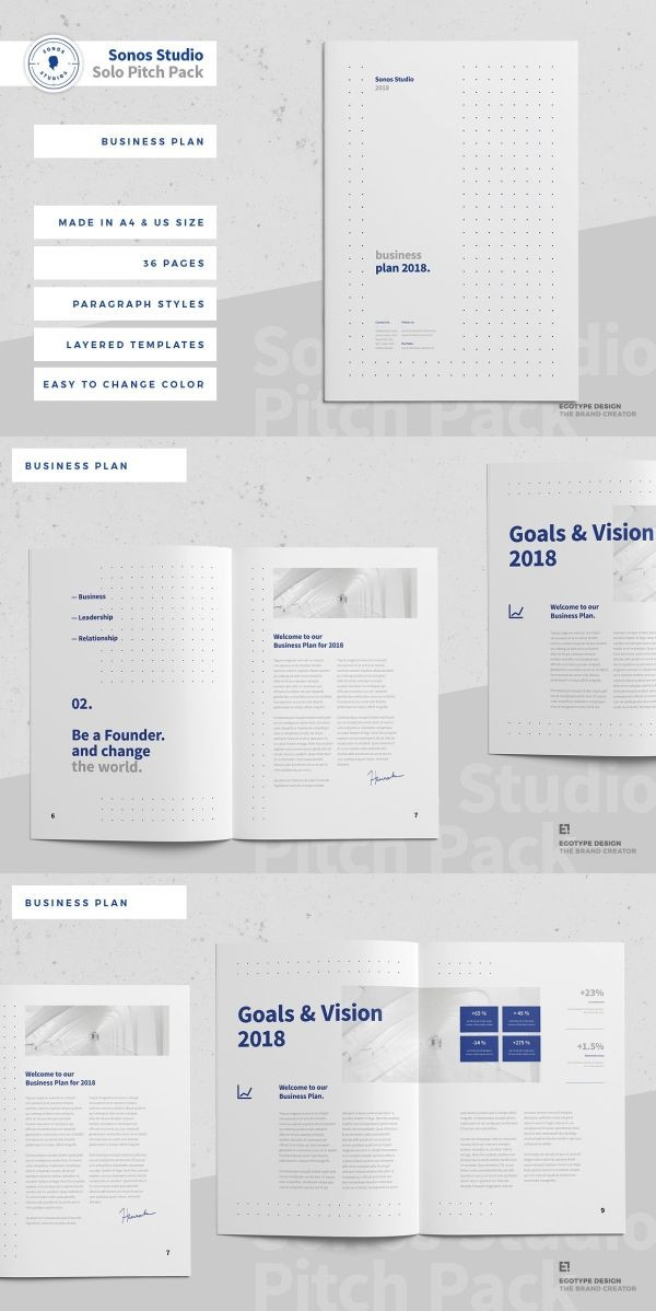 Indesign Business Plan Template Business Plan In 2020