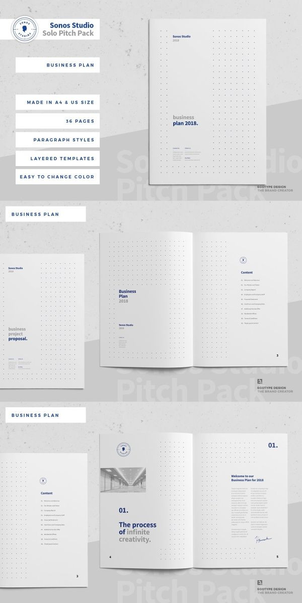 Indesign Business Plan Template Business Plan Template 36 Pages