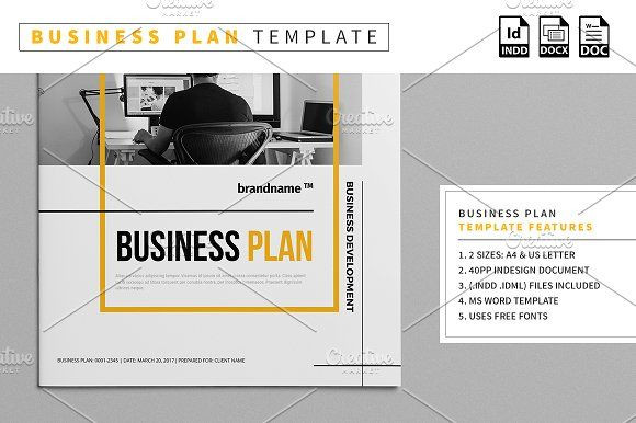 Indesign Business Plan Template Business Plan Template