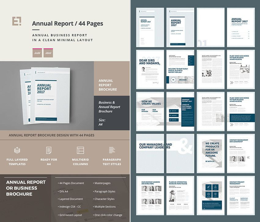 Indesign Business Plan Template Indesign Page Layout Templates 15 Annual Report Templates