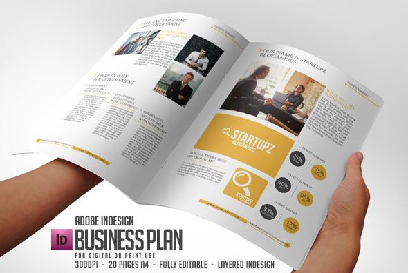 Indesign Business Plan Template Striking Business Plan Indesign Template