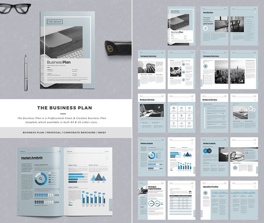 Indesign Business Plan Template the Business Plan Proposal Template Design