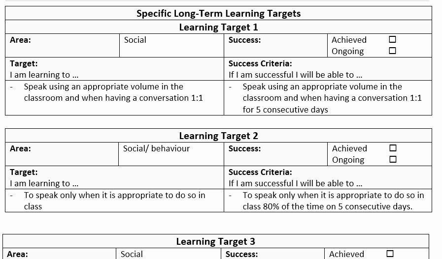 Individual Learning Plan Template Individual Education Plan Template Inspirational Individual