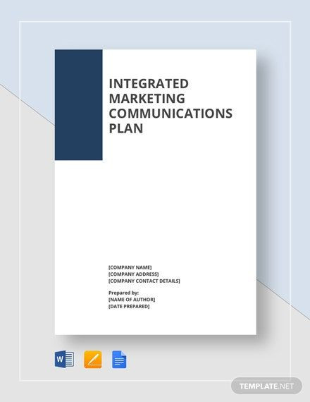 Integrated Marketing Communications Plan Template Integrated Marketing Munications Plan Template In 2020