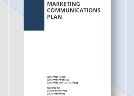 Integrated Marketing Plan Template Integrated Marketing Munications Plan Template In 2020