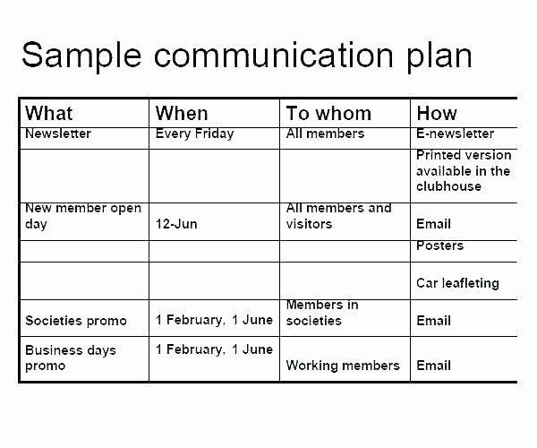 Internal Communication Plan Template Internal Munications Plan Template Lovely Munication
