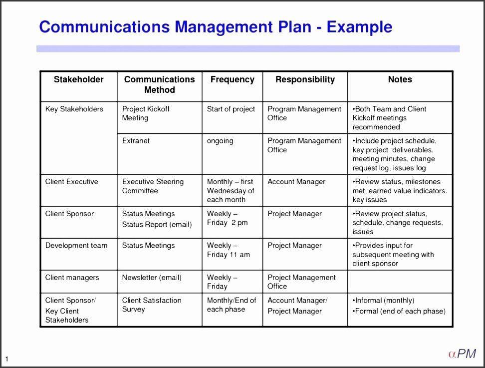Internal Communication Plan Template Project Management Munication Plan Template Inspirational