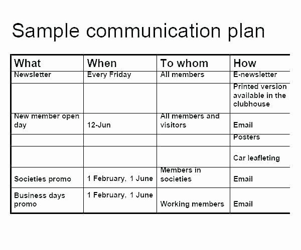 Internal Communications Plan Template Internal Munications Plan Template Lovely Munication