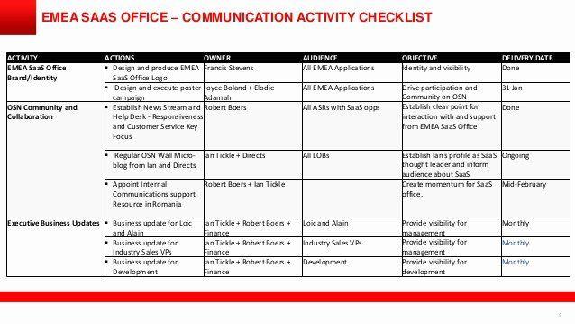 Internal Communications Plan Template Internal Munications Plan Template Luxury software as A