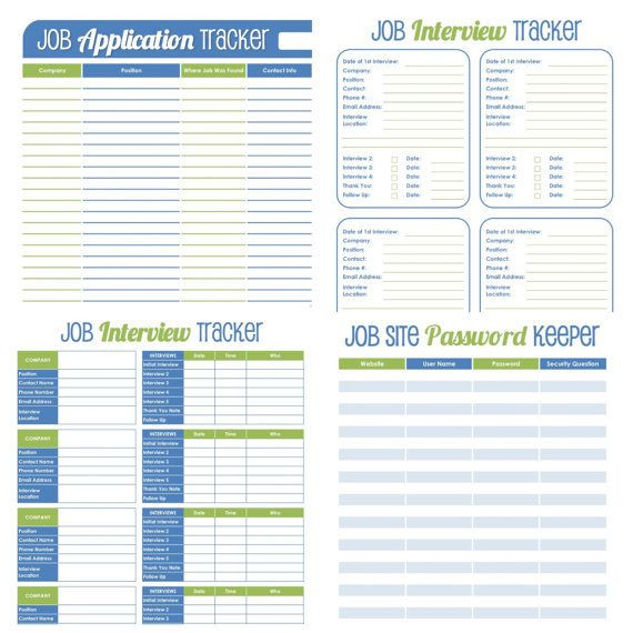 Job Search Plan Template Pin by Fresh and organized On Work
