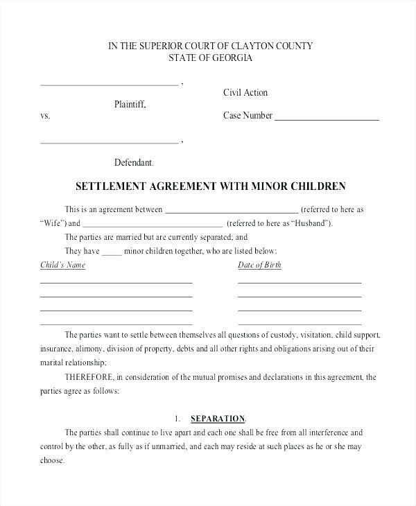 Joint Custody Parenting Plan Template Out State Custody Agreement Examples In 2020