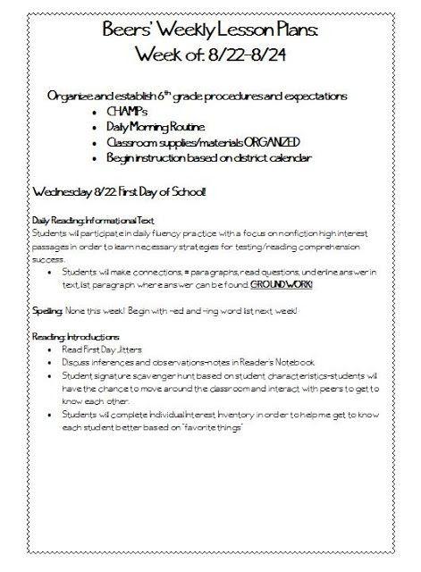 Language Arts Lesson Plan Template 6th Grade Reading Language Arts Lesson Plans What Template