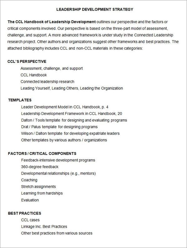 Leadership Development Plan Template Best 5 Leadership Development Plan Template format S
