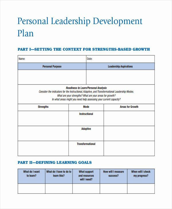 Leadership Development Plan Template Leadership Action Plan Example Best 64 Development Plan