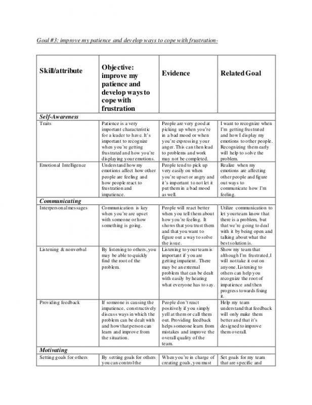 Leadership Development Plan Template Leadership Development Plan