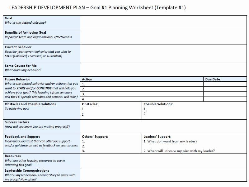 Leadership Development Plan Template Leadership Development Plan Template Lovely Leadership
