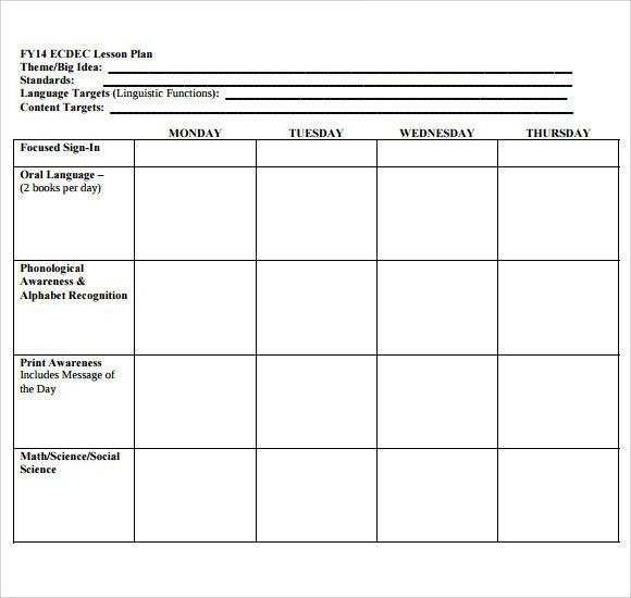 Lesson Plan Book Template Printable Lesson Plans Blank Template Luxury Sample Blank Lesson Plan