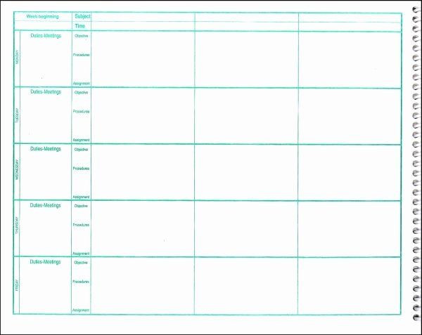 Lesson Plan Book Template Printable Teachers Planning Book Template Inspirational Free Lesson