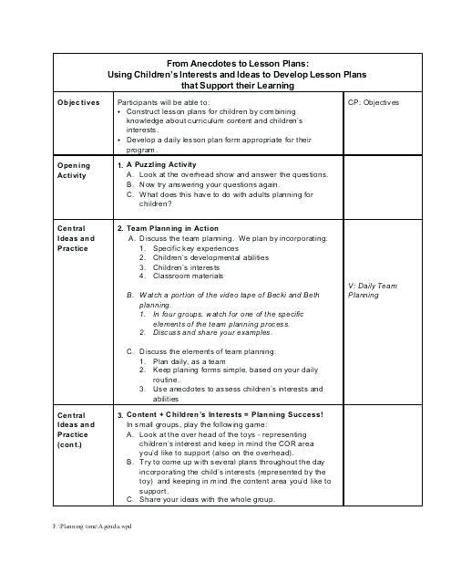 Lesson Plan Template for Adults Pin On Schedule