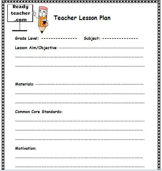 Lesson Plan Template for Teachers 10 Lesson Plan Templates Free Download