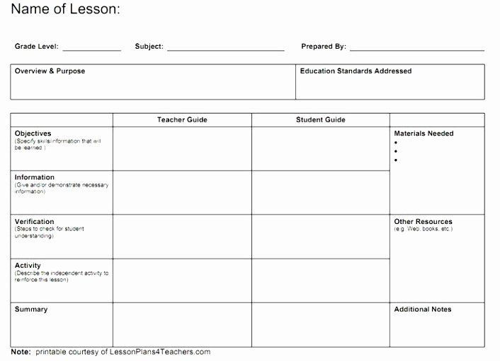 Lesson Plan Template with Standards School Age Lesson Plans Template Best 12 School Age