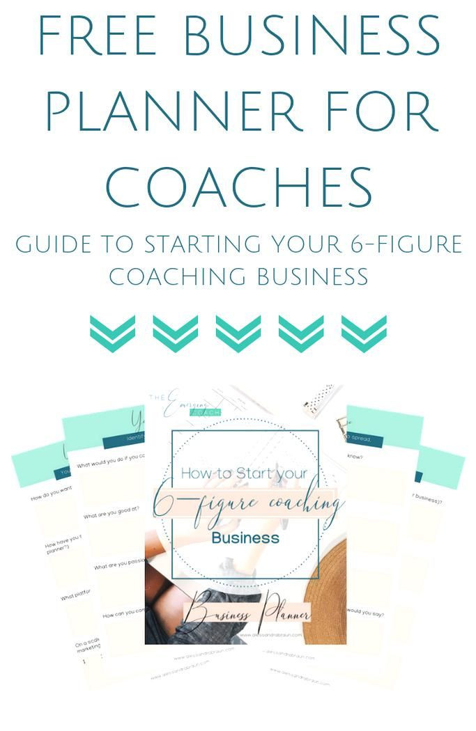 Life Coach Business Plan Template Free Business Planner for Coaches to Gain Massive Clarity On