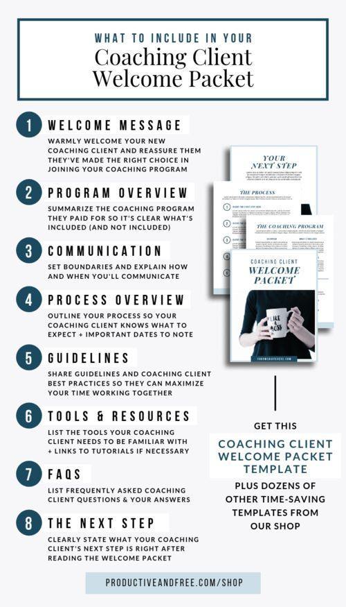 Life Coaching Marketing Plan Template Wel E Packet Template — Productive and Free