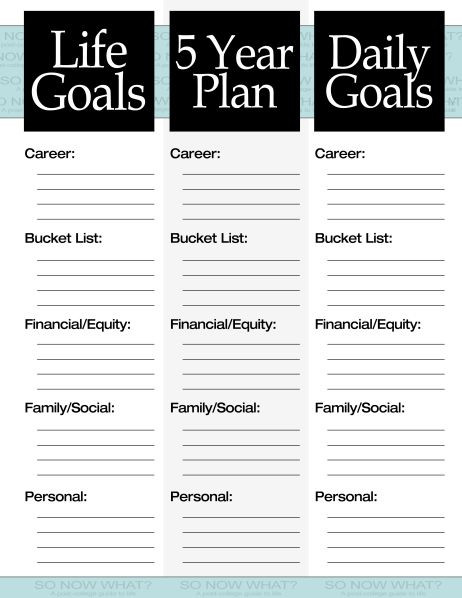 Life Plan Template the 3 Steps to A 5 Year Plan