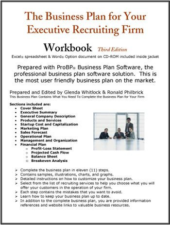 Loan Officer Marketing Plan Template the Business Plan for Your Executive Recruiting Firm