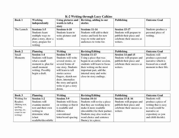 Lucy Calkins Lesson Plan Template Write Lesson Plan Template Inspirational Lucy Calkins Lesson