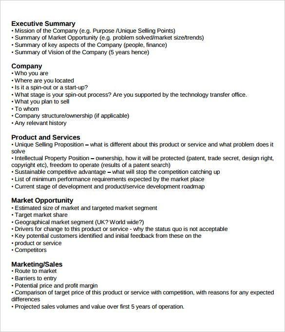 Marketing Plan Executive Summary Template Executive Summary Example
