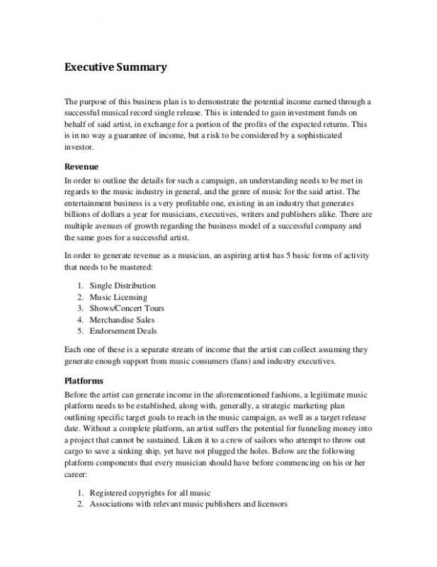 Marketing Plan Executive Summary Template Pin Di Template