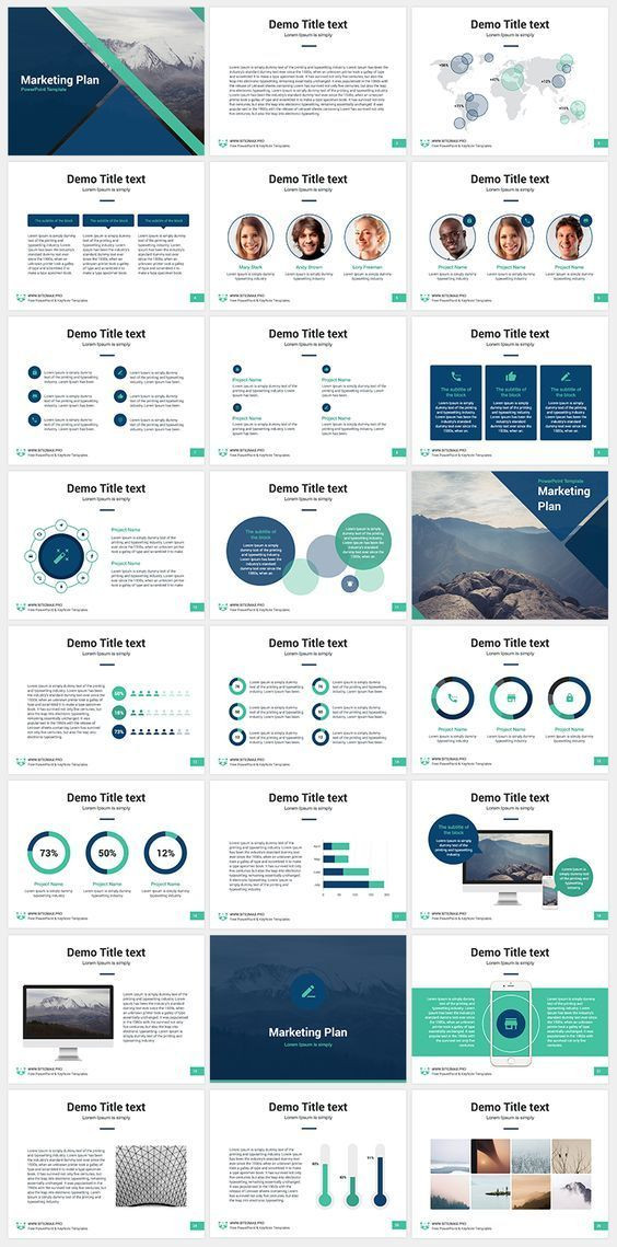 Marketing Plan Powerpoint Template Marketing Plan Free Keynote Template Professional Keynote