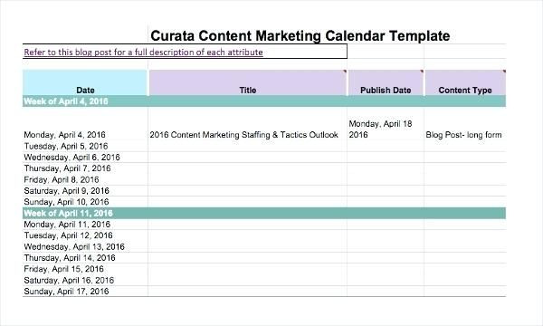 Marketing Plan Template Excel Excel Marketing Excel Marketing Calendar Template Excel