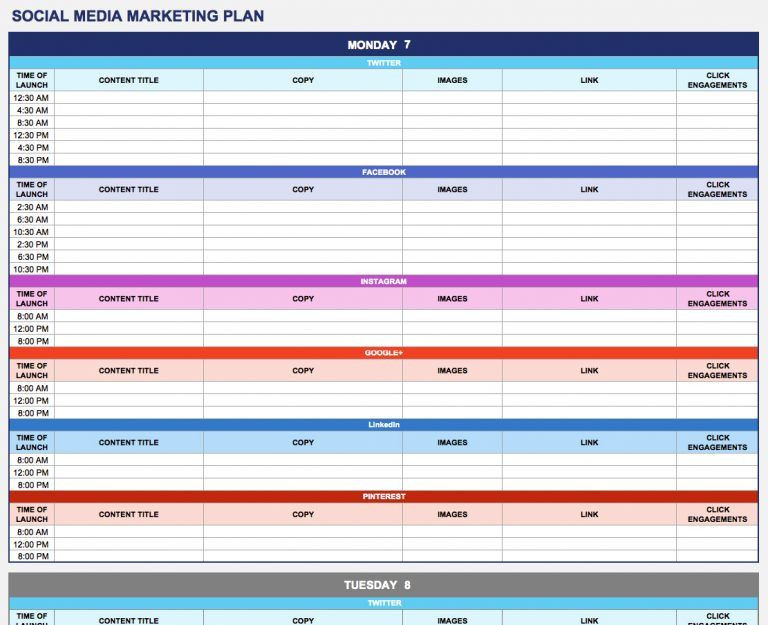 Marketing Plan Template Excel Marketing Plan Templates 20 formats Examples and Plete