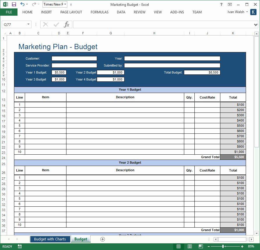 Marketing Plan Template Excel Strategic Planning Template Excel Lovely Marketing Plan