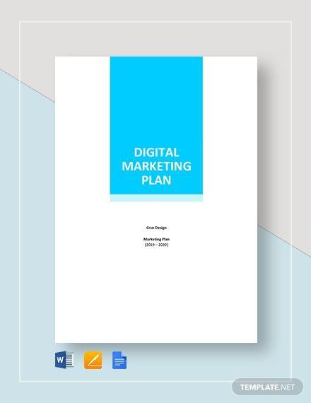 Marketing Plan Template Google Docs Digital Marketing Plan Template Word Google Docs