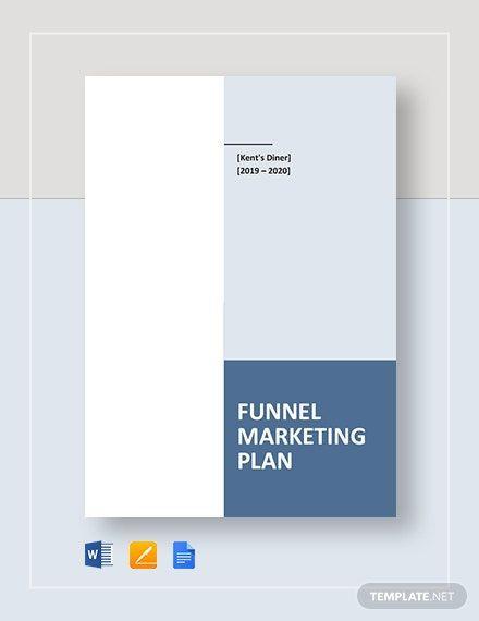 Marketing Plan Template Google Docs Funnel Marketing Plan Template In 2020