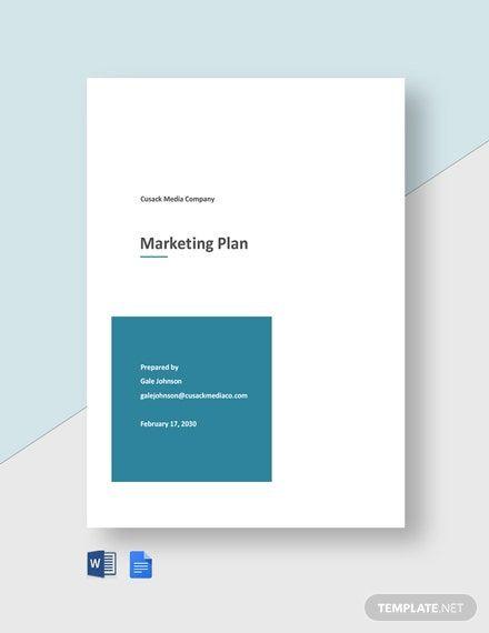 Marketing Plan Template Google Docs Instantly Download Advertising Agency Marketing Plan