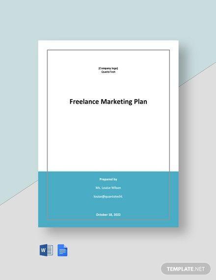 Marketing Plan Template Google Docs Instantly Download Free Sample Freelance Marketing Plan