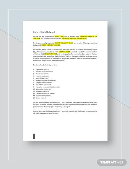 Marketing Plan Template Google Docs Law Firm Marketing Plan Template Ad Sponsored Firm