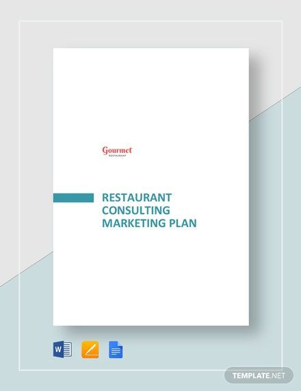 Marketing Plan Template Google Docs Restaurant Consulting Marketing Plan Template Word