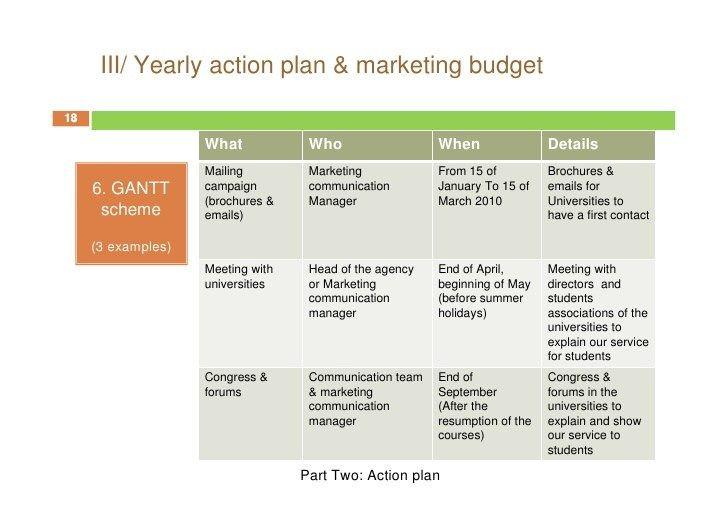 Marketing Plan Template Word Marketing Action Plan 61