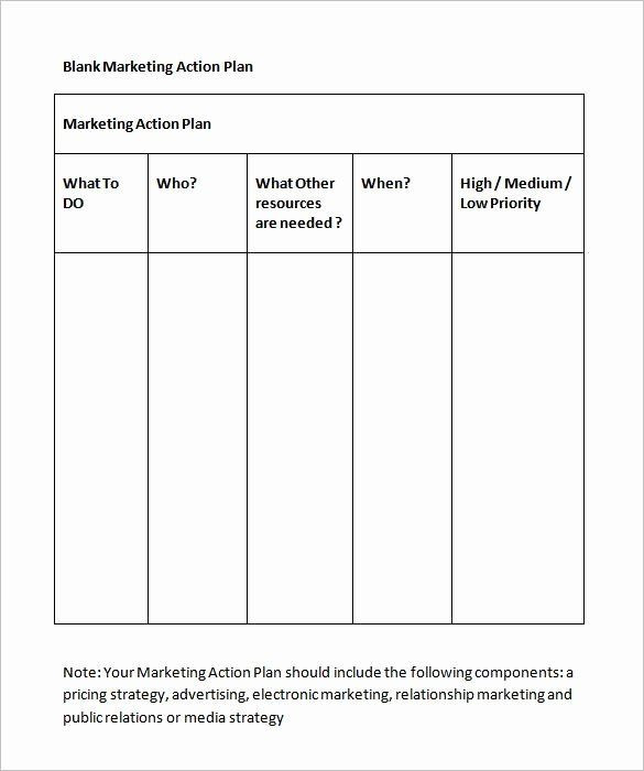Marketing Plan Template Word Marketing Action Plan Template Excel Best 4 Step Plan to