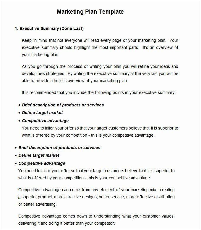 Marketing Plan Template Word Simple Marketing Plan Template Word New Strategic Marketing