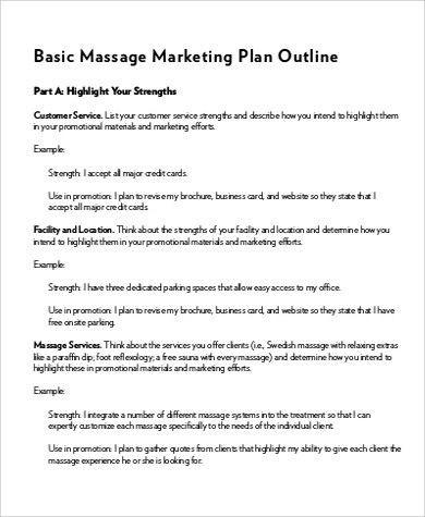 Massage Business Plan Template Free Massage Business Plan Template Free New Sample Marketing