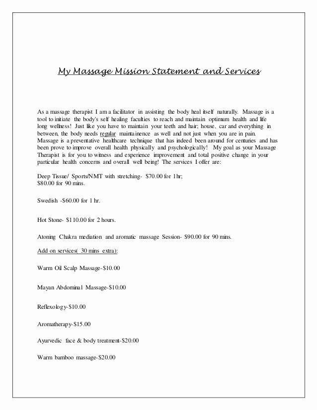 Massage therapy Business Plan Template Massage therapy Business Plan Template Inspirational Massage