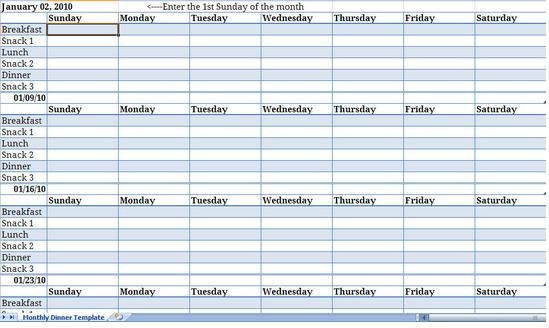 Meal Plan Template Excel Pin On Meal Planning Templates