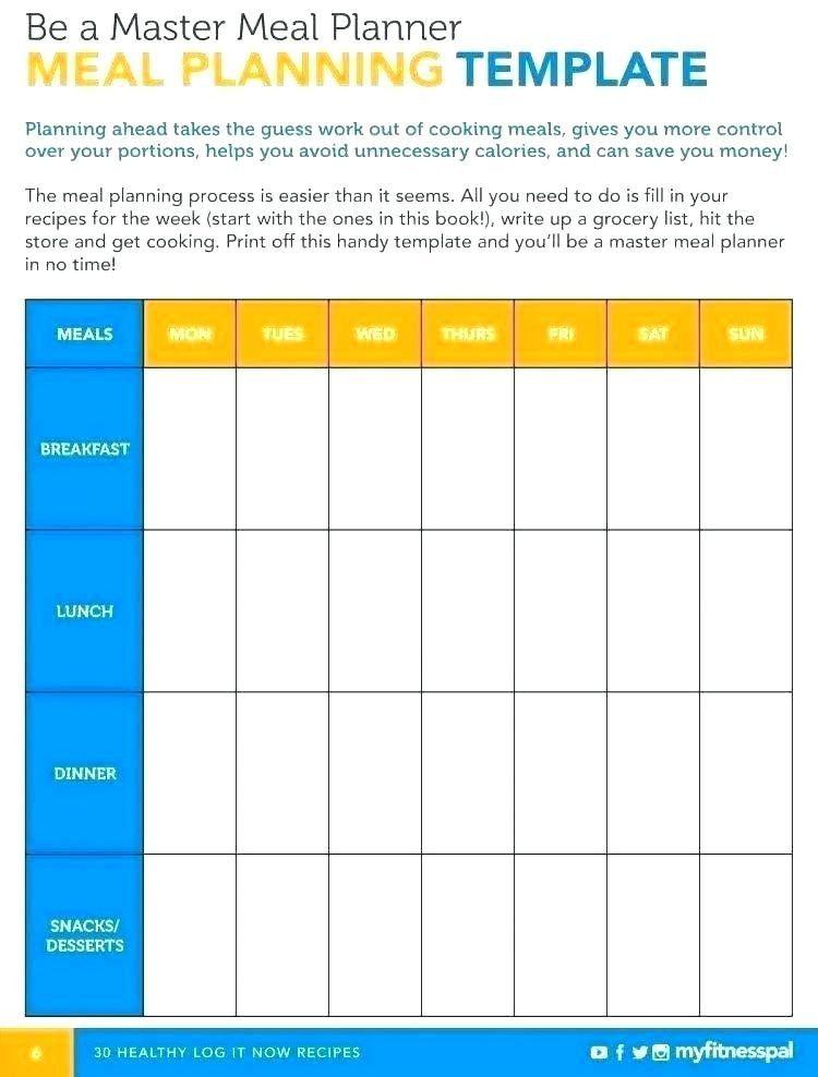 Meal Plan Template Google Docs 25 Excel Meal Planner Excel Templates Planner format for