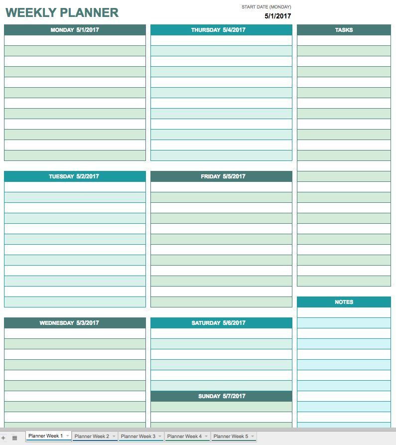 Meal Plan Template Google Docs Creating A Calendar In Google Docs is as Easy as Ing